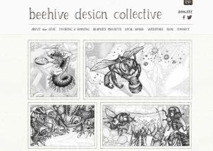 Screen Capture of Beehive Collective